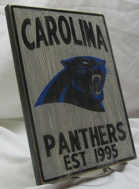Carolina Panthers wall sign distressed by Route66VintageSigns, $25.00