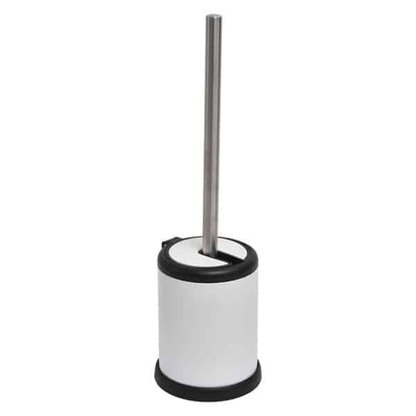 Evideco Bathroom Toilet Bowl Brush Holder With Folding Lid White In 2020 Toilet Bowl Brush Toilet Bowl Brush Holder