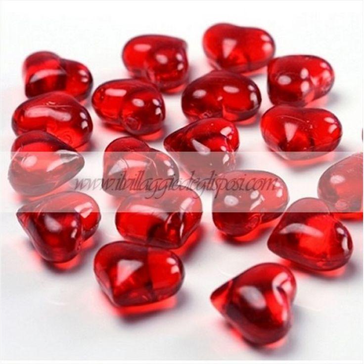 Cristalli a forma di cuore - VARI COLORI. Disponibili su http://www.ilvillaggiodeglisposi.com/