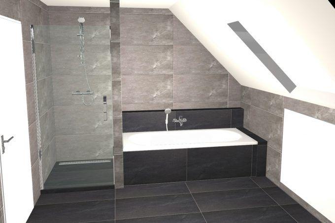 25 beste idee n over betegelde badkamers op pinterest badkameridee n badkamers en kleine - Badkamer onder het dak ...