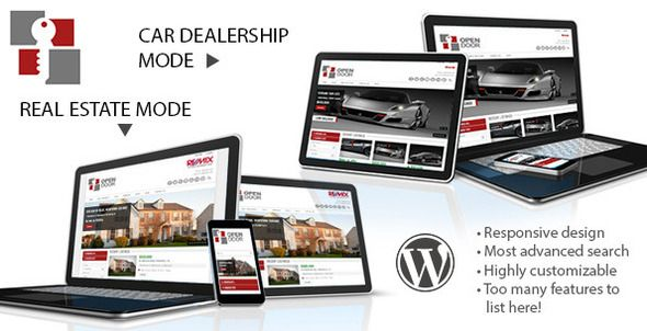 OpenDoor Responsive Real Estate and Car Dealership - Business Corporate