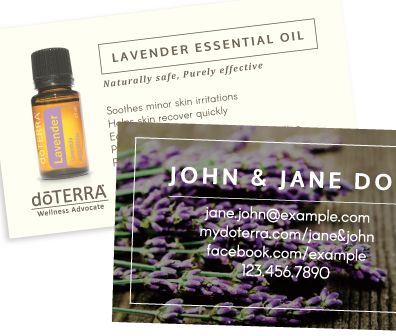 8 best amazing doterra business cards images on pinterest doterra bare essentials lavender doterra business card wajeb Images