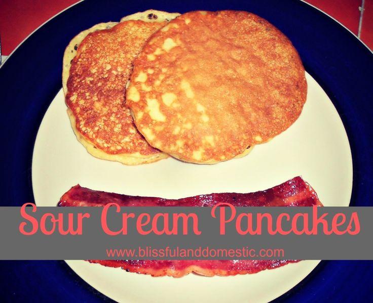 Sour Cream Pancakes- The Pioneer Woman Recipe. Yum!