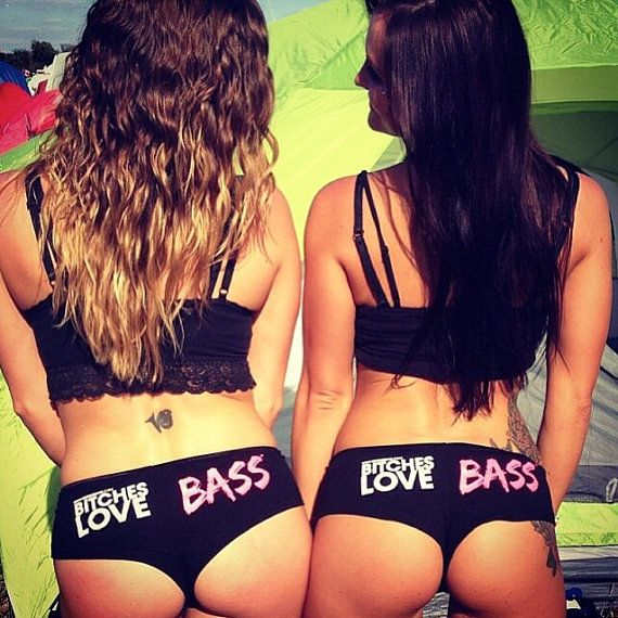 Bitches Love Bass Booty Shorts ** rave, plur, kandi, edm, house, dance, DJ, ultra, dubstep, music, festival, edc, tomorrowland, party **