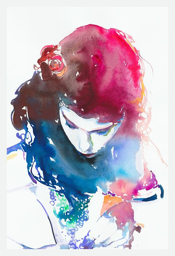 Print of Watercolour Fashion Illustration  by silverridgestudio, $100.00