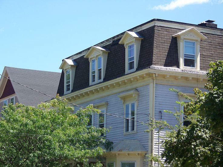 56 best mansard roof images on pinterest attic loft for Mansard style roof