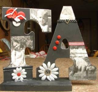 Photo craft idea: Diy Photography, Photo Crafts, Crafts Ideas, Photo Letters, Letters Crafts, Fun Ideas, Craft Ideas, Teas Parties, Crafty Ideas