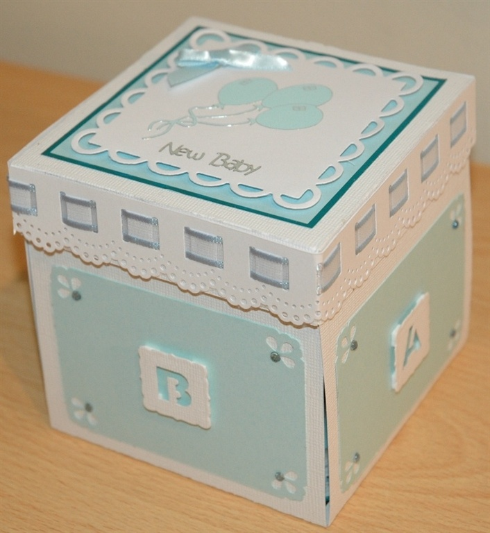 Exploding Box for Baby Boy