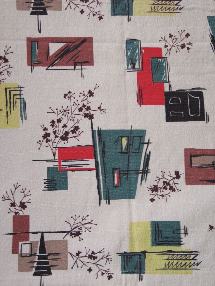 39 Best Images About Mid Century Fabric Patterns On