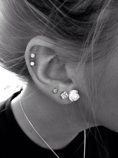 ear piercings, I have this many on my right ear, same placement too E~H                                                                                                                                                      More