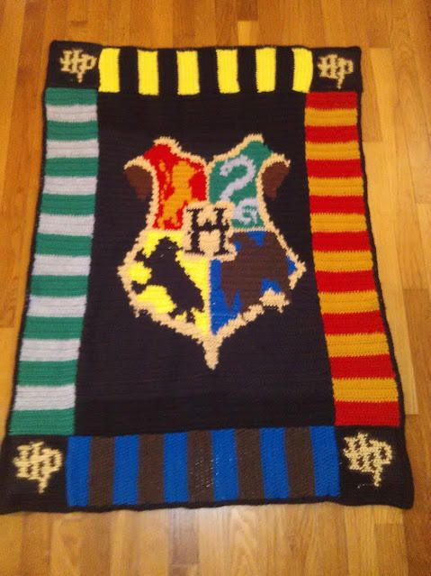 Hogwarts Harry Potter Afghan By Transitoria Crochet 1