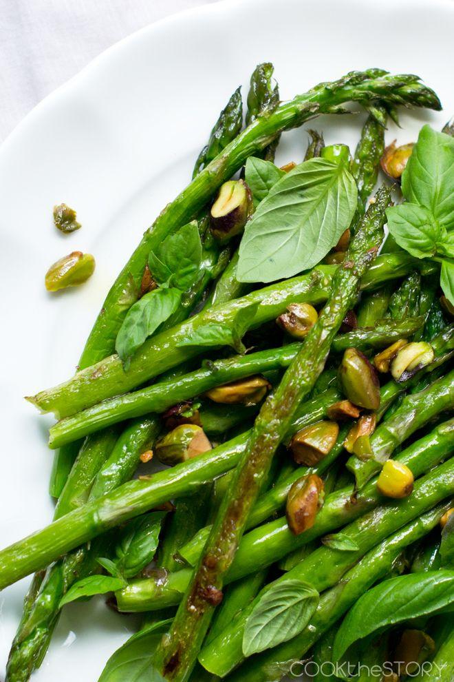 Roasted Asparagus and Pistachios