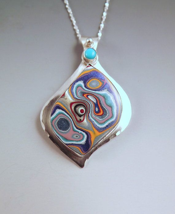 Fordite & Sleeping Beauty Turquoise Brilliant 80's by RedPaw