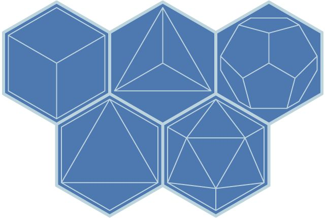 Hexagonal projection of the platonic solids | Hexnet | 1