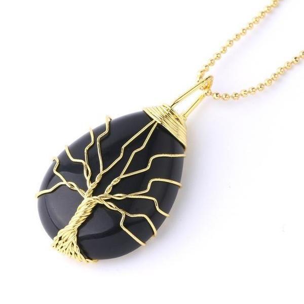 Agate Oeil Pendentif Natural Gemstone Healing Stone Collier Pendentif