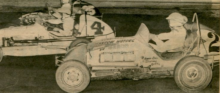 George Tatnell #25, Peter Bowland #4 and Howard Revell #2...Sydney Showground Speedway