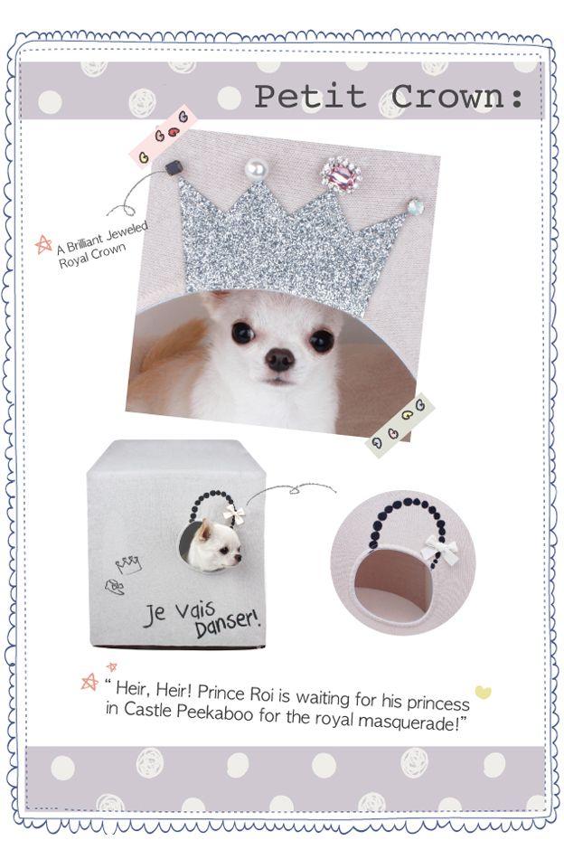 Peekaboo Petit Crown Louisdog - maison chien - panier chien #louisdog #chihuahua - accessoire chien - sweetie dog - www.sweetiedog.com