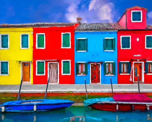 Burano Colorful Houses by Juan Carlos Ferro Duque. http://fineartamerica.com/featured/burano-colorful-houses-juan-carlos-ferro-duque.html