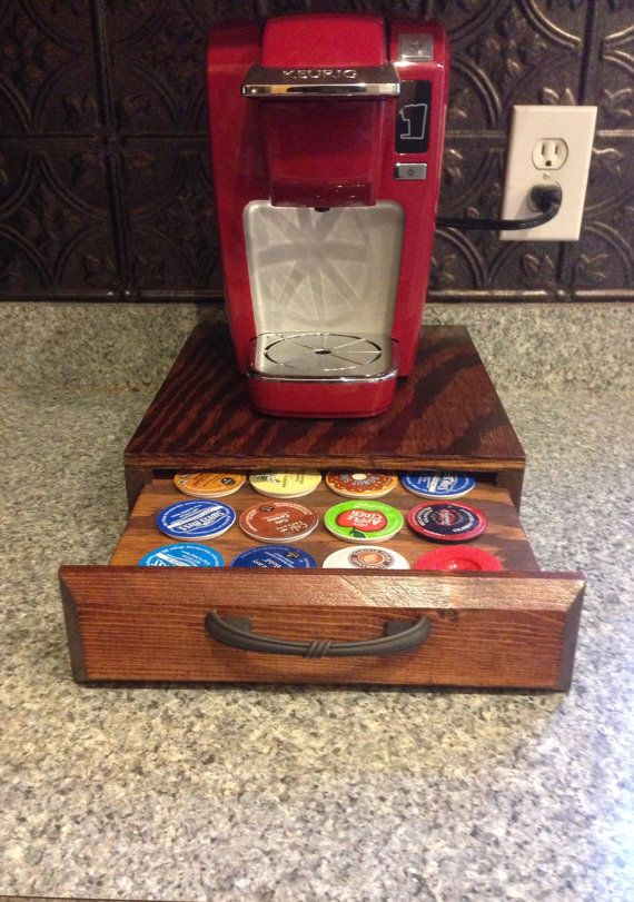 K Cup Holder By Jrscustomwoodwork On Etsy 30 00 K Cup Holders Kitchen Projects Diy Storage
