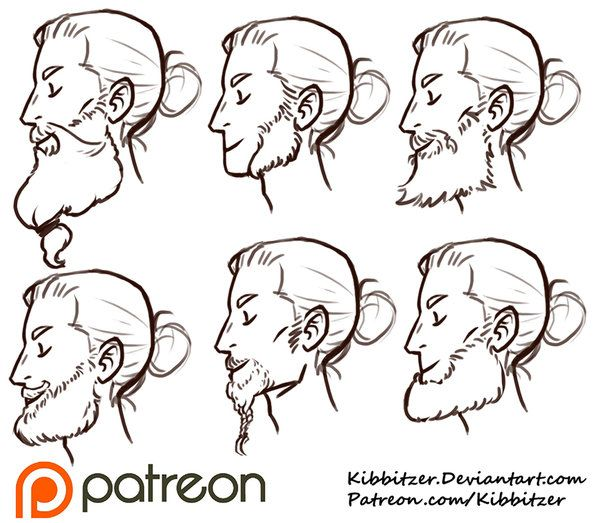 Beards reference sheet by Kibbitzer.deviantart.com on @DeviantArt