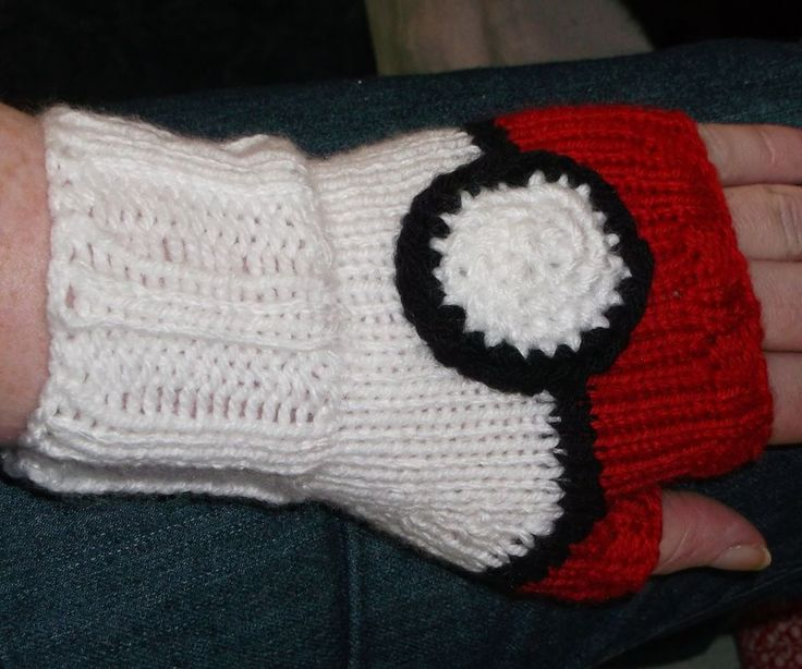 Pokemon fingerless gloves for my daughter :)