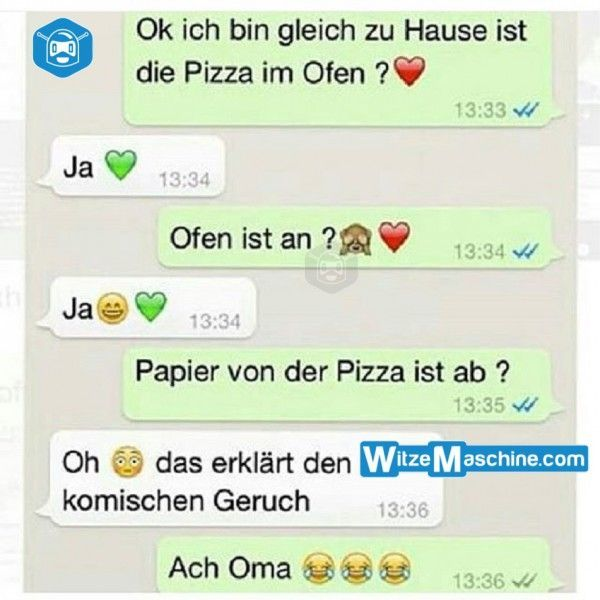 Lustige WhatsApp Bilder und Chat Fails 207 – Mit der Oma Pizza backen – witzemas…