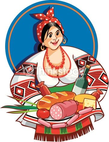 Vector Art : Ukrainian Ethnic Woman