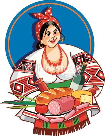 Vector Art : Ukrainian Ethnic Woman