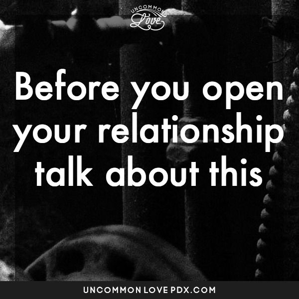 definition of a open relationship