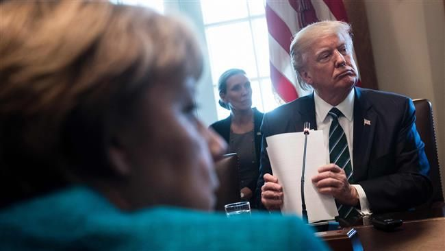 Donald Trump has reportedly called on Angela Merkel to clear Germany's $375 billion debt to NATO. LOL.