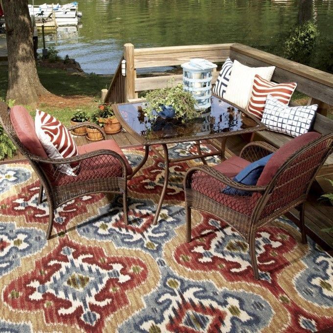 Exotic And Traditional Outdoor Rug For Patio With Furniture Sets Fabric