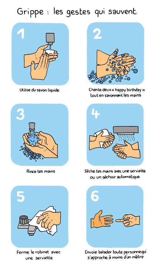 gestes-qui-sauvent | French | flu / grippe | the gestures that save