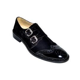"Pantofi eleganti barbati ""Black Heart"" - 12-816 Black"