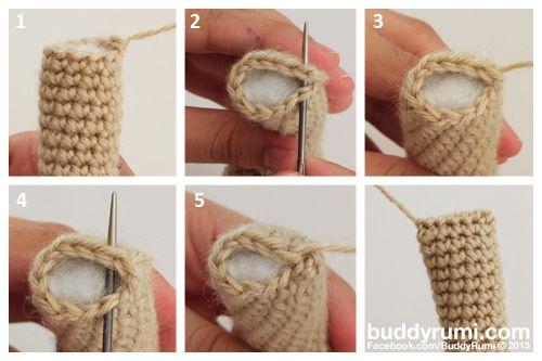 Closing amigurumi pieces crochet flat top