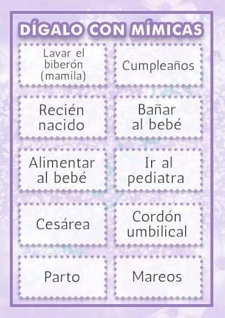Resultado De Imagen Para Juegos Para Baby Shower En Espanol