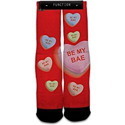 Function - Valentine's Day Big Candy Heart Be My Bae Fashion Socks