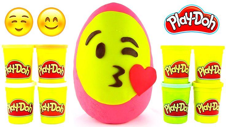 Emoji Oyun Hamuru DEV Sürpriz Yumurta Açma Imoji Figurines Minyonlar Oyu...