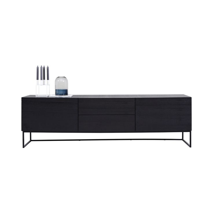 Shop online this modern designer Balmain TV/Entertainment Unit in Black Ash Wood Veneer. This contemporary Media Unit is a must for your living room.