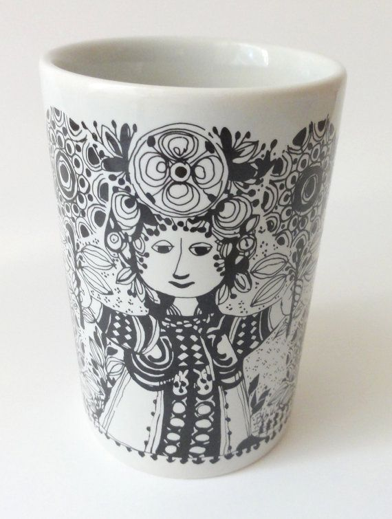 Vintage Danish Mid Century Vase Flora by Bjorn by Chixycoco, $38.00