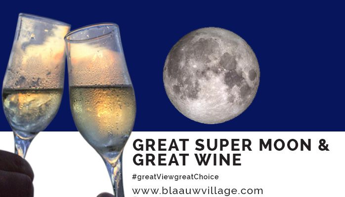 The moon hasn't been this cose in almost 69 years. Why not enjoy this phenomenon with a glass of wine at BlaauwVillage Boutique Guest House. #greatViewgreatChoice #blouberg #CapeTown #supermoon
