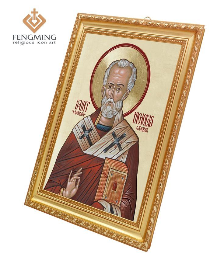 Греческая православная церковь настенные украшения дома религиозный Элемент изображения Святого Николая в пластиковой рамке Христианские подарки Византийского Искусства