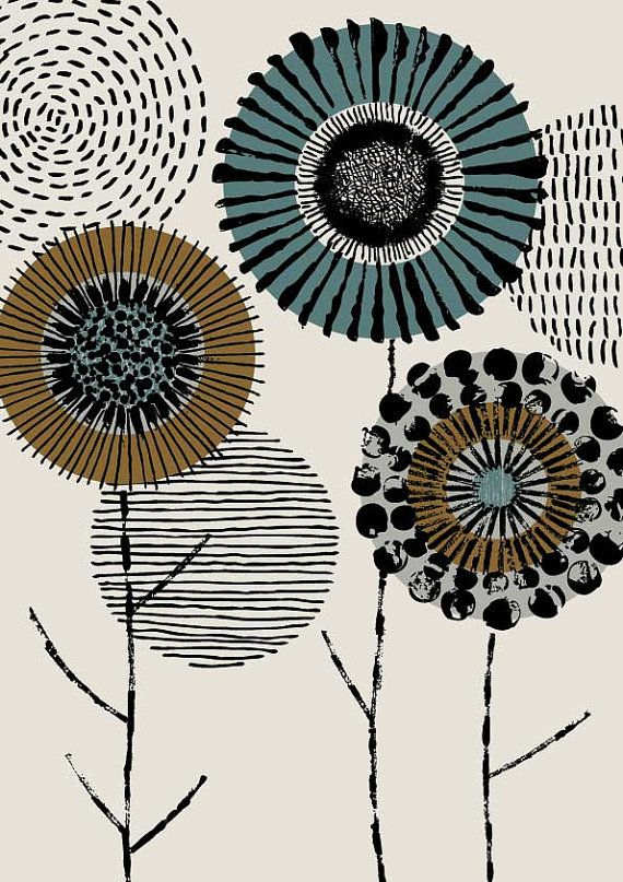 Incisore Floral limited edition giclee stampa di EloiseRenouf