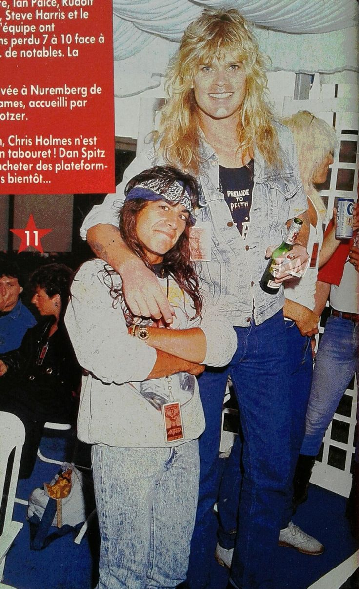 Mean Man Chris Holmes in W.A.S.P. with Dan Spitz of ...