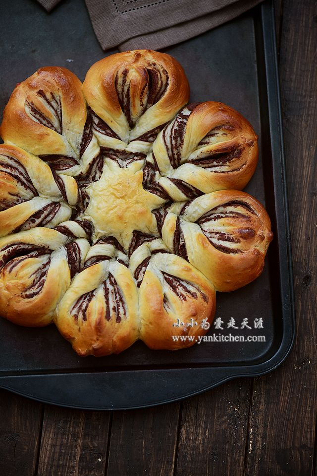Flower Shape Bread with Red Bean Paste Filling — Yankitchen