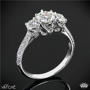 Vatche 'Swan' 3 Stone Engagement Ring