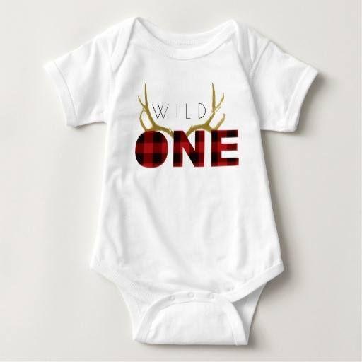 (Lumberjack Wild One   First Birthday Tee Shirt) #1St #1StFirthday #Antler #Boy…