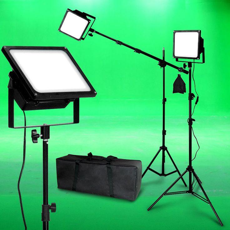 lighting set. 150w led photo video light kit boom black body photographic studio lighting set i