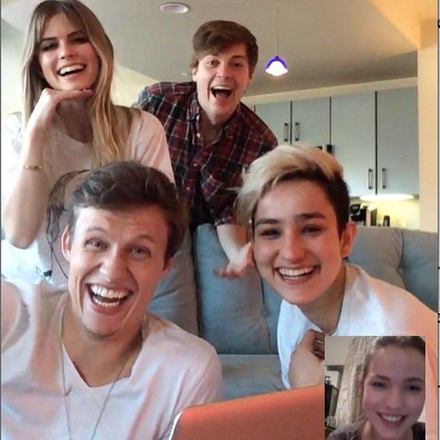 Carlson Young, John Karna, Connor Weil, Bex Taylor Klaus, and Willa Fitzgerald