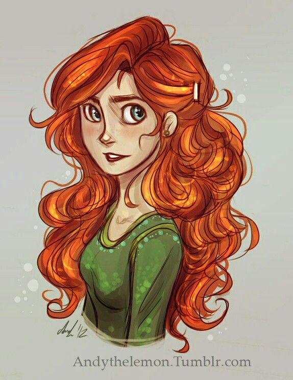 how to draw princess merida