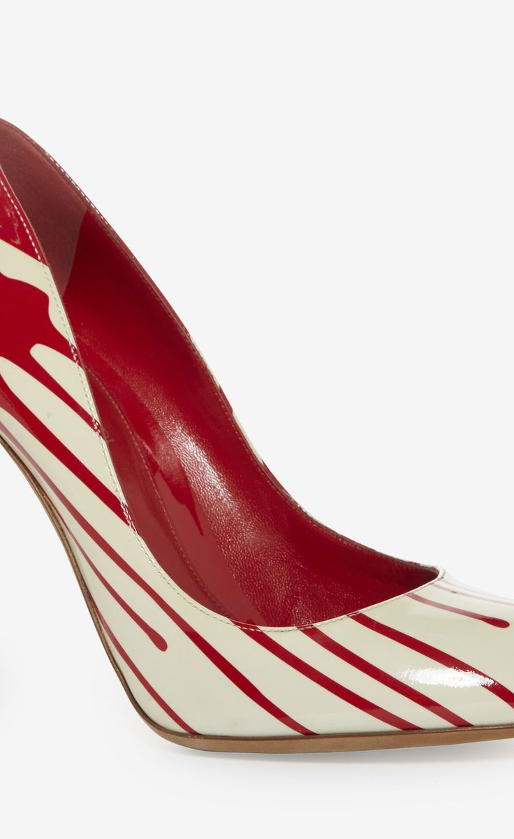 Sergio Rossi Red And White Pump